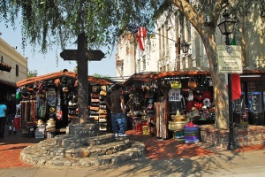 cross on olvera street